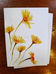 Greeting Card - Veronica Schifano - Yellow Flowers