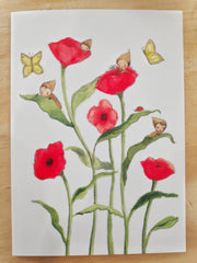 Greeting Card - Michelle Pleasance - Flower Babies