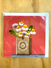 Greeting Card - Deb Hudson - Flowers D 26, Dragonfly Toys, Nuovo Group, Deb Hudson, Melbourne Artist