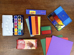 Home school pack, stockmar, crayons, beeswax, watercolour, modelling clay, main lesson book