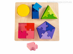 Wooden Fractions Jigsaw Puzzle by Kiddie Connect