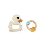 Kawan Teether and Rubberwood Rattle