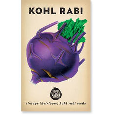 Heirloom Flower Seeds - Kohlrabi 'Rabi Purple', Dragonflytoys