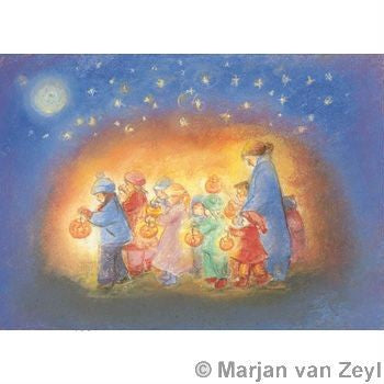 Lanterns in Starlight Postcard