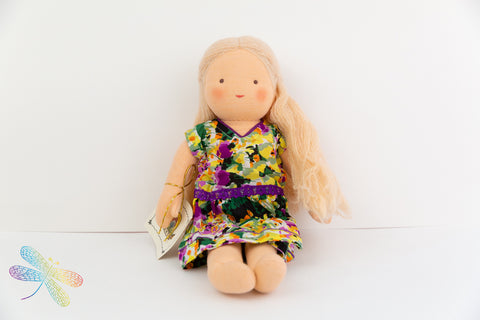 Steiner Doll- Blond Hair Girl Dragonflytoys