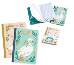 Small Unicorn/Swan Set of 2 Notebook Lucille by Djeco
