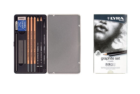 Lyra Graphite Set with Metal Tin