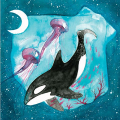 Greeting Card - Whale