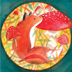 Greeting Card - Fox with Mushroom MC 14