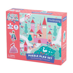 Enchanted Princess Puzzle Play Set (36) Pieces by Mudpuppy, Dragonflytoys