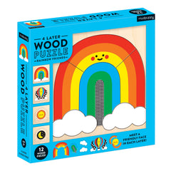 4 Layer Wood Puzzle - Rainbow Friends
