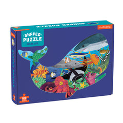 Ocean Life Shaped Puzzle (300 Pieces) by Mudpuppy, Dragonflytoys