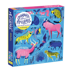 Mammals with Mohawks Puzzle (500 Pieces) by Mudpuppy, Dragonflytoys