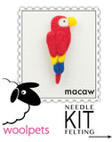 Woolpets Macaw Pin/Brooch Needle Felting Kit,Dragonflytoys