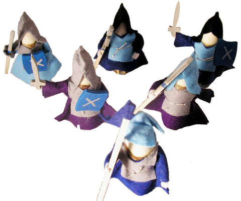 Wooden Knights Set of 6 by Magic Wood