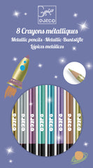 8 Metallics Pencil Set by Djeco, Dragonflytoys