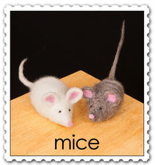 Needle Felting Kit- Mice
