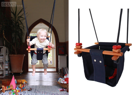 Solvej Toddler Swing - Midnight Blue
