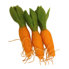 Mini Carrot x 3  Vegetable Felt Play Food by Papoose