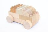 Wooden Lego Blocks Car Bubu - Mokulock