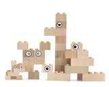 Wooden Lego Blocks  34 Pieces Kodomo - Mokulock