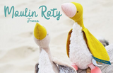 moulin roty, plumette, goose, soft toy, french made toys, babys toys