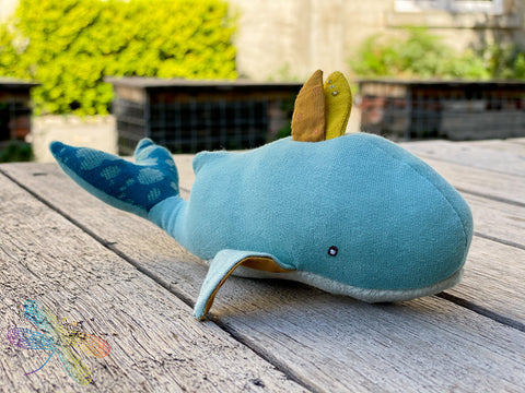 Moulin Roty, le voyage d'olga, whale, soft toy, soft musical toy