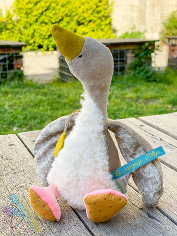 moulin roty, Fléchette, goose, soft toy, french made toys, babys toys