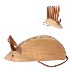 Mouse Wooden Pencil Holder by Drei Blatter