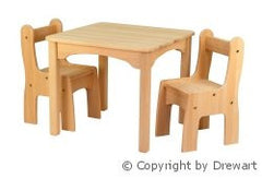 Drewart Wooden Chair and Table Set