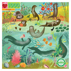 Otters 1000 Piece Puzzle by Eeboo, Dragonflytoys