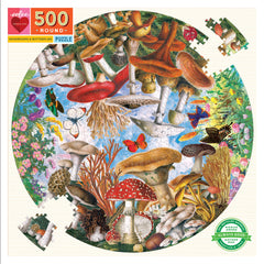 Mushroom & Butterflies (500 Pieces)Puzzle by Eeboo, Dragonflytoys