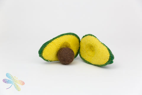 Avocado Felt Play Food by Papoose, Dragonfly toys