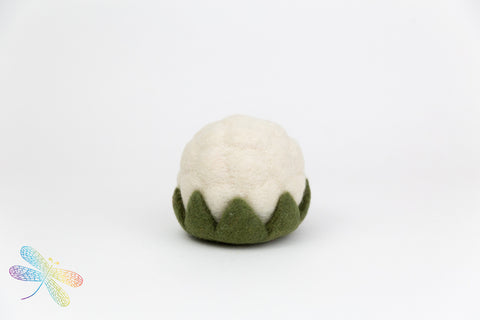 Cauliflower Vegetable Felt Play Food by Papoose, dragonfly toys, small world play