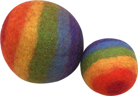 Natural Rainbow Felt Ball by Papoose