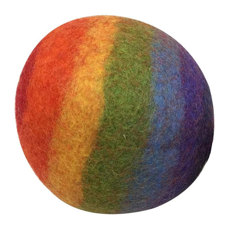 Large rainbow felt ball by Papoose