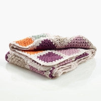 Organic Cotton Blanket - Crochet Granny Square