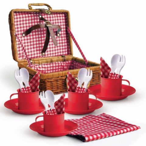 Picnic Set In Wicker Dragonfly Toys