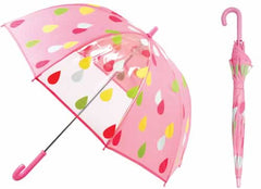 Kids Birdcage Raindrop Print Umbrella