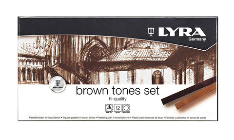 Lyra Polycrayon Brown Tones Box of 12