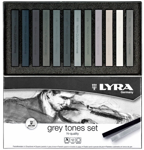 Lyra Polycrayon Grey Tones Box of 12