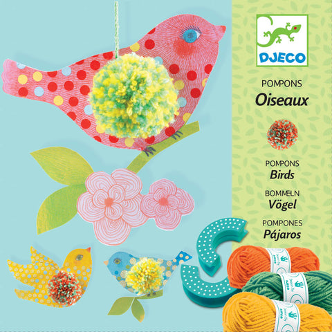 Pom Pom Craft Kit 3 Birds by Djeco