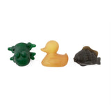 Hevea Pond Set with Natural Duck, Green Rubber Frog and Charcoal Fish Rubber Bath Toy - Natural Rubber