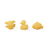 Hevea Pond Set with Natural Duck, Rubber Frog and Fish Rubber Bath Toy - Natural Rubber
