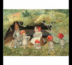 Children of the Forest winding wool Postcard