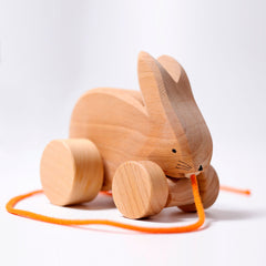 Pull Along Bobbing Rabbit by Grimms,Dragonflytoys