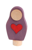 Grimms birthday and advent ring decoration   purple matryoshka