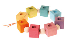 Grimms Rainbow Birthday Cubes, Dragonflytoys