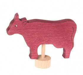 Red Cow Grimms Birthday and Advent Ring Decoration