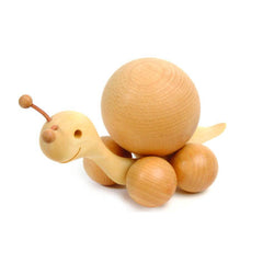 Rolling Snail - Natural Beech Ball